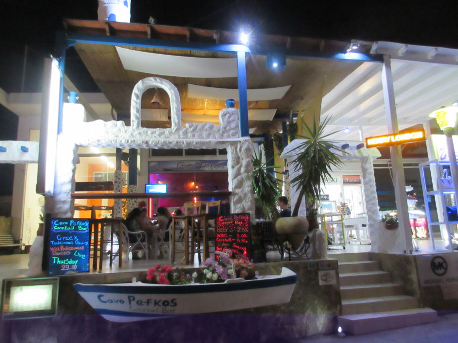 Our great selection of the best bars in Pefkos