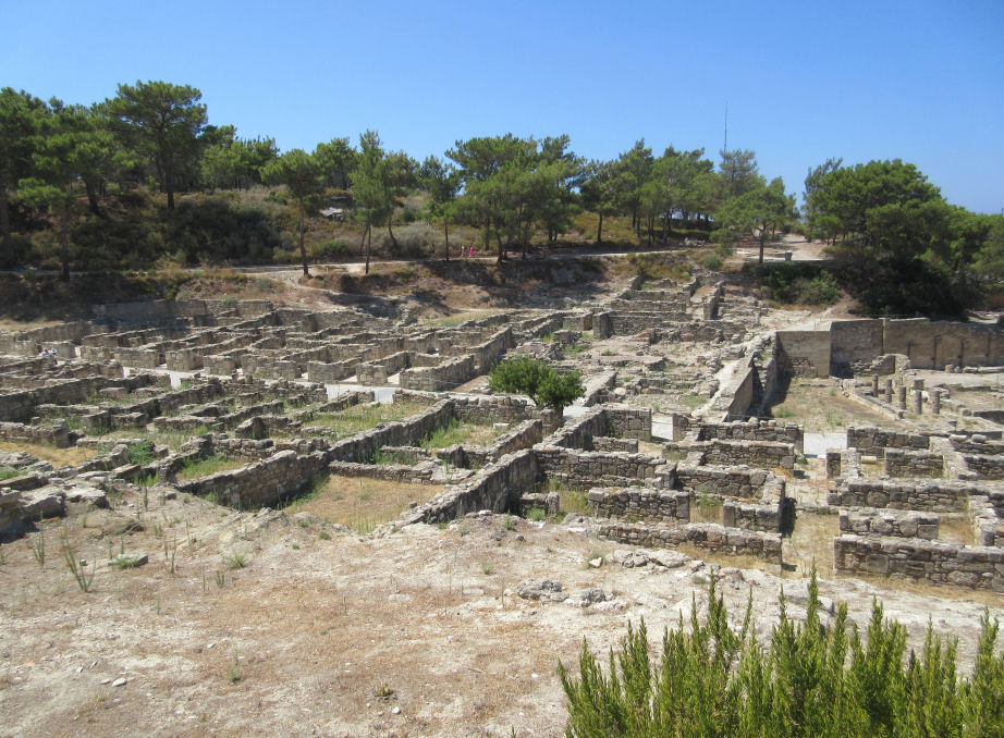 The archeological site of Ancient Kamiros