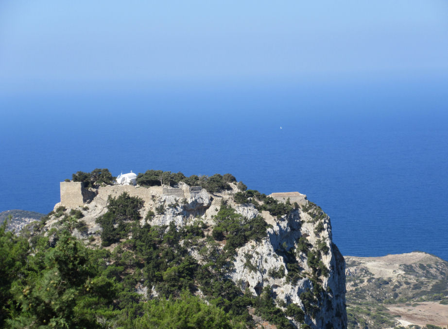 Monolithos Castle seen from a distance