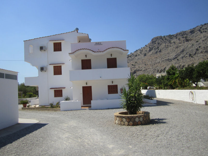 Maria Apartments in Pefkos. Click here to visit the room only accomodation page