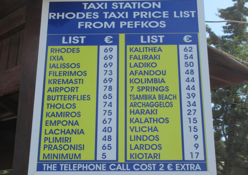 Taxi Prices.